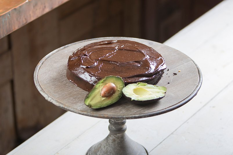 Healthy chocolate vegan cake