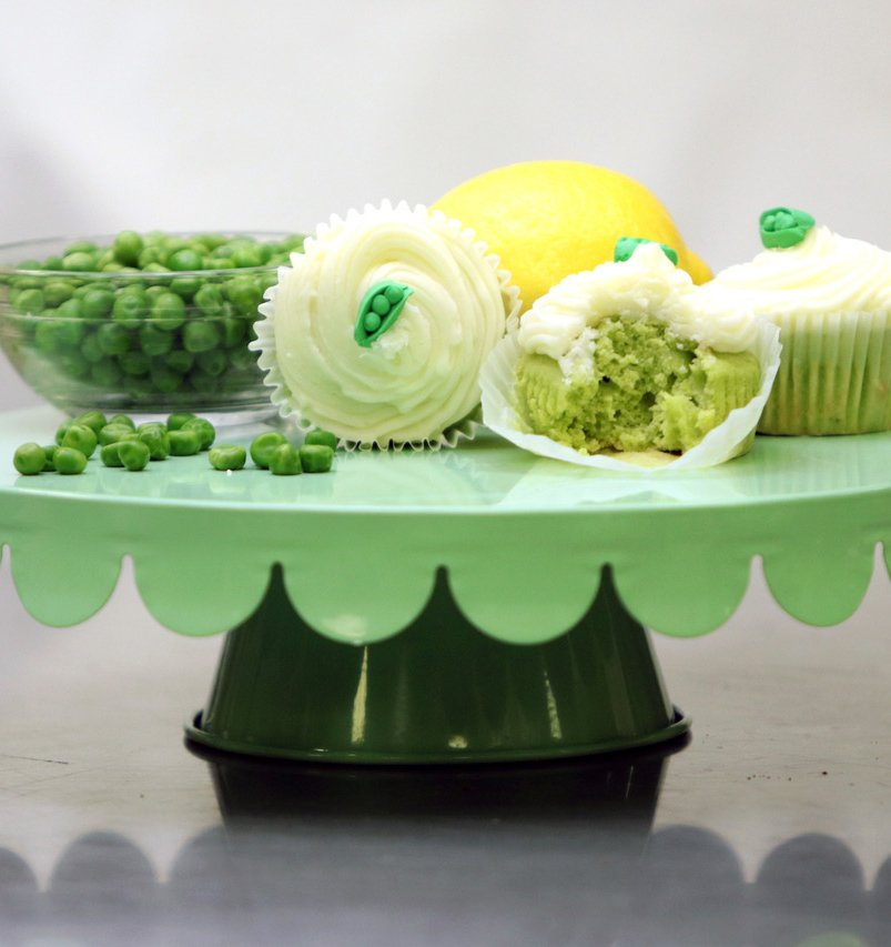 Delicious cupcakes made with peas for a healthy treat.